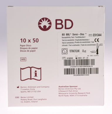 Tetraciclina Sensi-Disc® BBL®