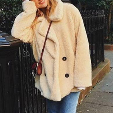 Cute Faux fur jacket