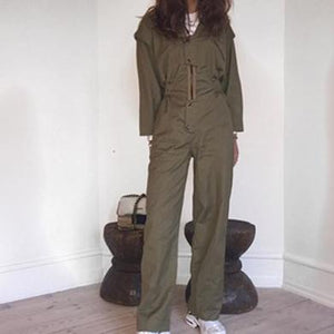 one piece straight leg jumpsuit