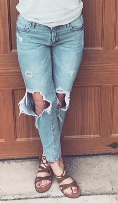 ripped cute jeans