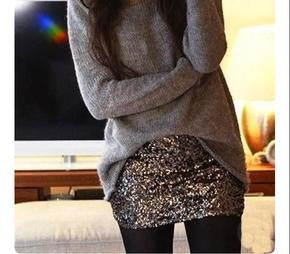 sparkly sequin skirt
