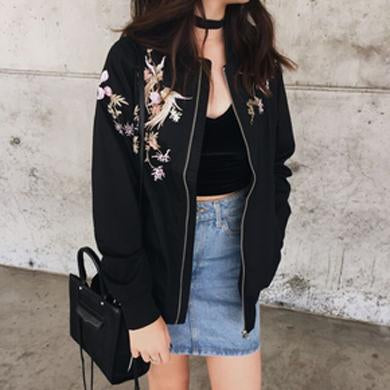 Flower bird Bomber Jacket