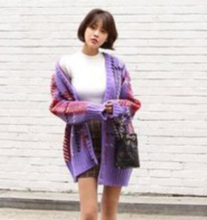 inlove purple cardigan