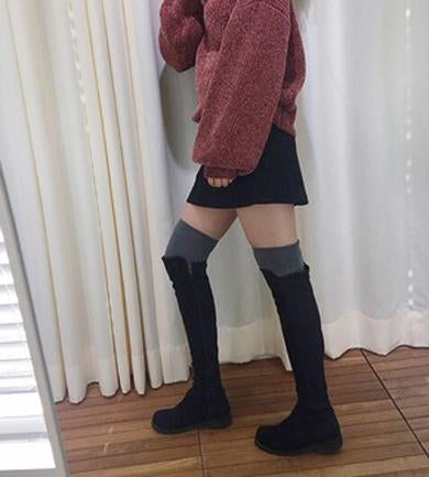 Fall Over Knee High Boots