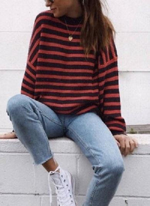 Stripe Regular with Sleeve sweater