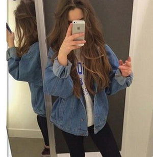 plus size denim jacket