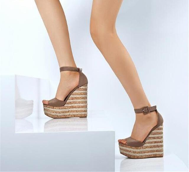 The Crossdresser Stiletto Wedges sandals.