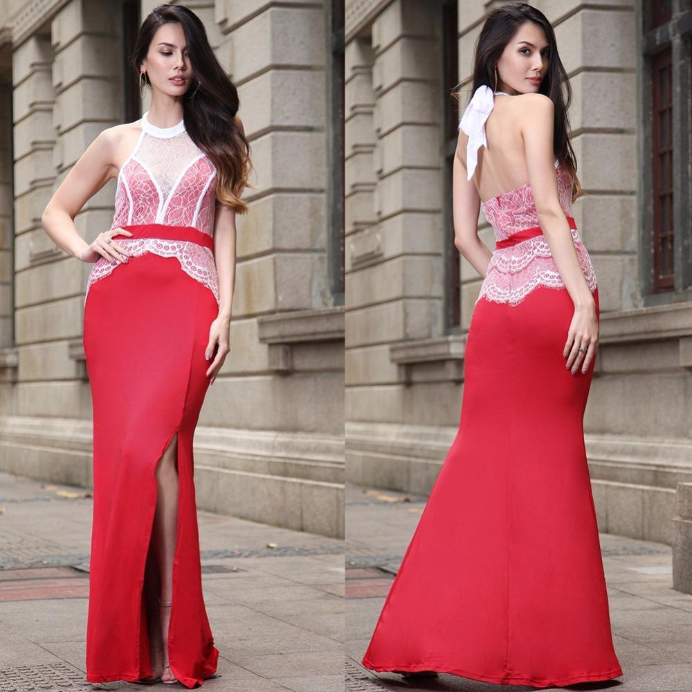 open back Elegant Backless Dress
