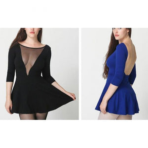 V-Neck Backless Halter Dress