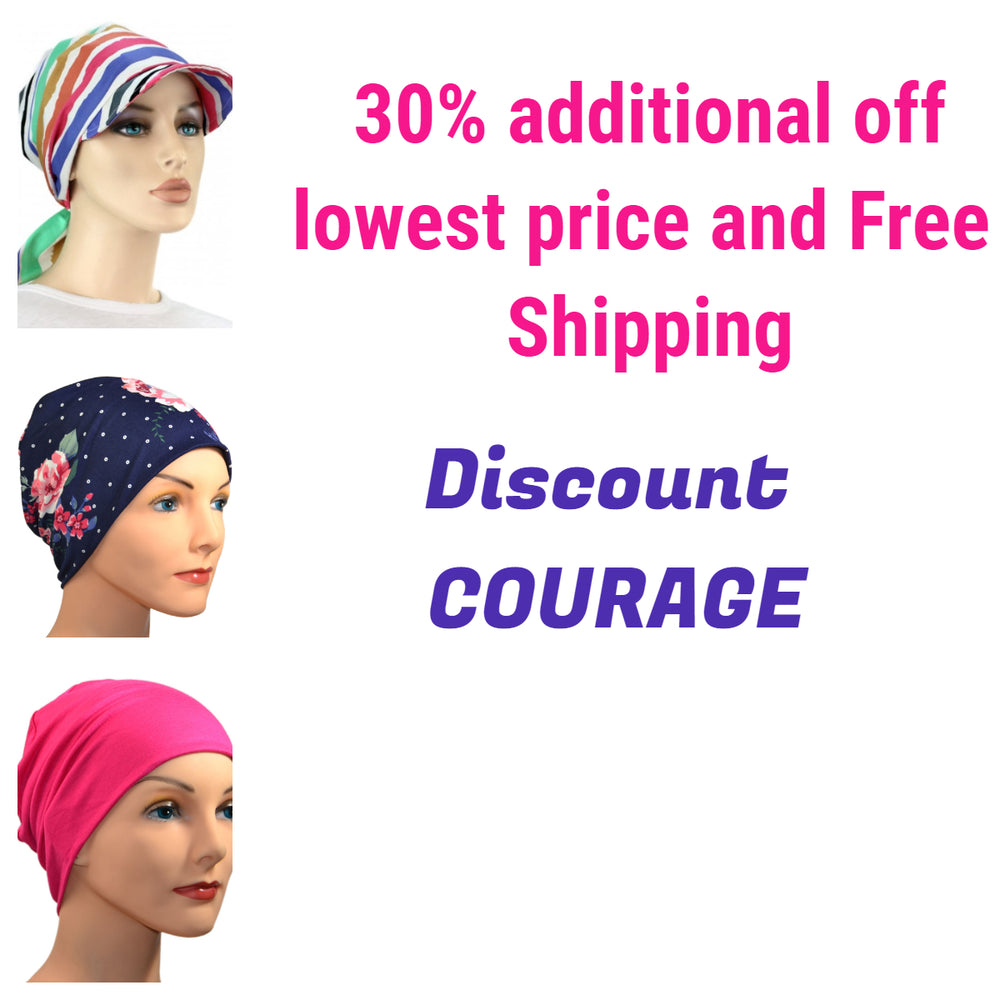 83a51220465 Hello Courage | Chemo Hats - Cancer Caps - Cancer Scarves - Headcovers -  Cancer Beanies - Headwear for Hair Loss - Gifts for Cancer Patients with  Hair Loss ...