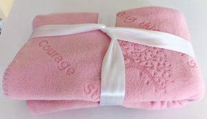 Prayer Blanket, Breast Cancer Gift for Cancer Patient, Female, blanket, throw, serious illness gift, comfort, healing, strength courage,