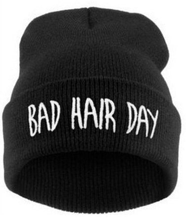 "Humor But True ""Bad Hair Day"" Cap in  Black"