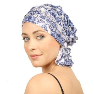 French Collection - Navy Blue & White - Allisa by Chemo Beanies®