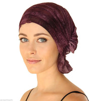 French Collection - Purple Tone on Tone Tie Dye Danielle by Chemo Beanies®