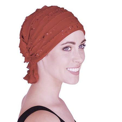 French Collection -  Eileen by Chemo Beanies -  Christmas Holiday Red with sparkles!