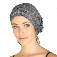 French Collection - GRAY Very Small Print - Kay by Chemo Beanies®