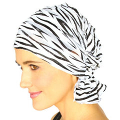 French Collection - BLACK & WHITE - Keisha by Chemo Beanies® BESTSELLER