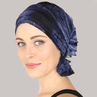 French Collection - Melissa Navy Blue Denim Tie Dye by Chemo Beanies®