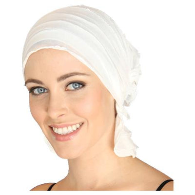 French Collection - Stella in Summer White by Chemo Beanies