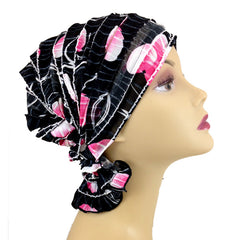 French Collection - Black, White, Fuschia - Delia by Chemo Beanies