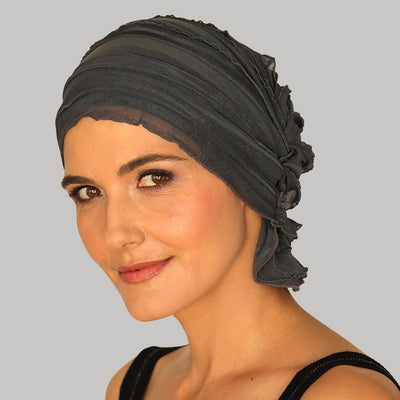 French Collection - GRAY - Susan B by Chemo Beanies® - Hello Courage | Chemo Hats - Cancer Caps - Cancer Scarves - Headcovers - Cancer Beanies - Headwear for Hair Loss - Gifts for  Cancer Patients with Hair Loss - Alopecia