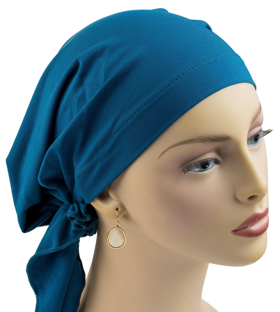 Pre-Tied Shorter Scarf - Teal NEW