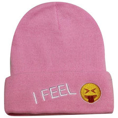 Budget Collection - I FEEL (emoji with tongue sticking out) knit cap