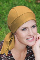 Budget Collection EXTRA LIGHTWEIGHT Tie Back Style -  Khaki - Adjustable - BESTSELLER - Hello Courage | Chemo Hats - Cancer Caps - Cancer Scarves - Headcovers - Cancer Beanies - Headwear for Hair Loss - Gifts for  Cancer Patients with Hair Loss - Alopecia