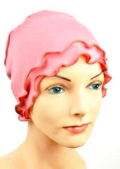 Budget Collection Fringe Lounge & Sleep Cap in Coral - Hello Courage | Chemo Hats - Cancer Caps - Cancer Scarves - Headcovers - Cancer Beanies - Headwear for Hair Loss - Gifts for  Cancer Patients with Hair Loss - Alopecia
