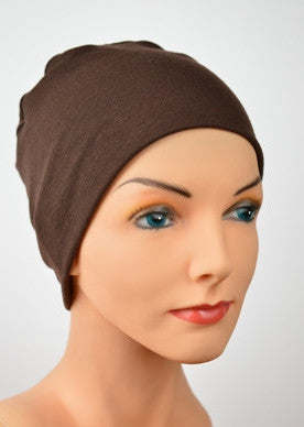 Cozy Collection - Organic Bamboo -  Brown - Hello Courage | Chemo Hats - Cancer Caps - Cancer Scarves - Headcovers - Cancer Beanies - Headwear for Hair Loss - Gifts for  Cancer Patients with Hair Loss - Alopecia