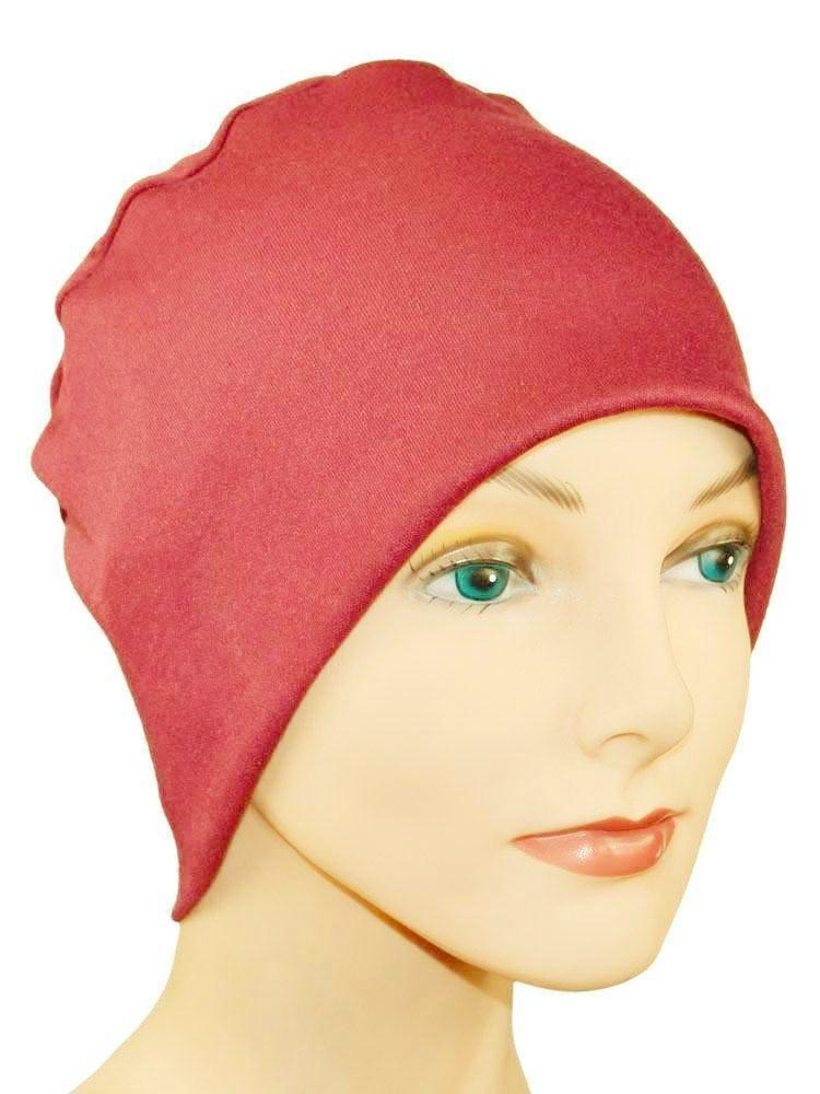 Cozy Collection - Organic Bamboo -  Burgundy - size Large - Hello Courage | Chemo Hats - Cancer Caps - Cancer Scarves - Headcovers - Cancer Beanies - Headwear for Hair Loss - Gifts for  Cancer Patients with Hair Loss - Alopecia
