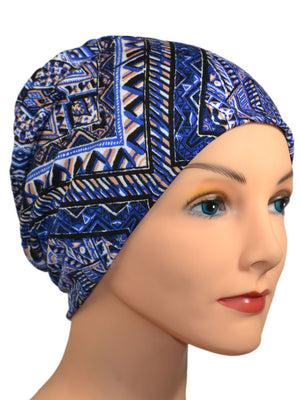 Cozy Collection - Diamond Denim - Size Large - Hello Courage | Chemo Hats - Cancer Caps - Cancer Scarves - Headcovers - Cancer Beanies - Headwear for Hair Loss - Gifts for  Cancer Patients with Hair Loss - Alopecia
