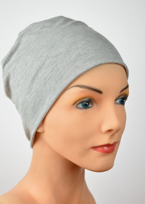 Cozy Collection - Light Gray  - Organic Bamboo -  FAVORITE! - Hello Courage | Chemo Hats - Cancer Caps - Cancer Scarves - Headcovers - Cancer Beanies - Headwear for Hair Loss - Gifts for  Cancer Patients with Hair Loss - Alopecia