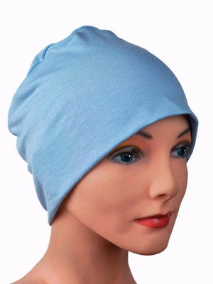 Cozy Collection Slate Blue - Hello Courage | Chemo Hats - Cancer Caps - Cancer Scarves - Headcovers - Cancer Beanies - Headwear for Hair Loss - Gifts for  Cancer Patients with Hair Loss - Alopecia