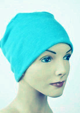 Cozy Collection - Organic Bamboo - Bright Turquoise - Hello Courage | Chemo Hats - Cancer Caps - Cancer Scarves - Headcovers - Cancer Beanies - Headwear for Hair Loss - Gifts for  Cancer Patients with Hair Loss - Alopecia
