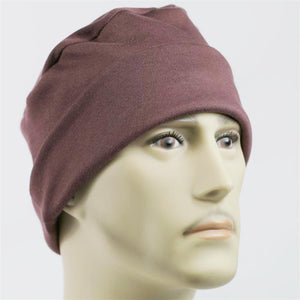 Men's Collection - Brown Roll Up - FINAL CLEARANCE - Hello Courage | Chemo Hats - Cancer Caps - Cancer Scarves - Headcovers - Cancer Beanies - Headwear for Hair Loss - Gifts for  Cancer Patients with Hair Loss - Alopecia