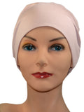 Cozy Collection - ORGANIC BAMBOO -Light Pink - Small / Medium & Large - Hello Courage | Chemo Hats - Cancer Caps - Cancer Scarves - Headcovers - Cancer Beanies - Headwear for Hair Loss - Gifts for  Cancer Patients with Hair Loss - Alopecia