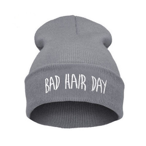 "Budget Collection ""Bad Hair Day"" Gray - Hello Courage 