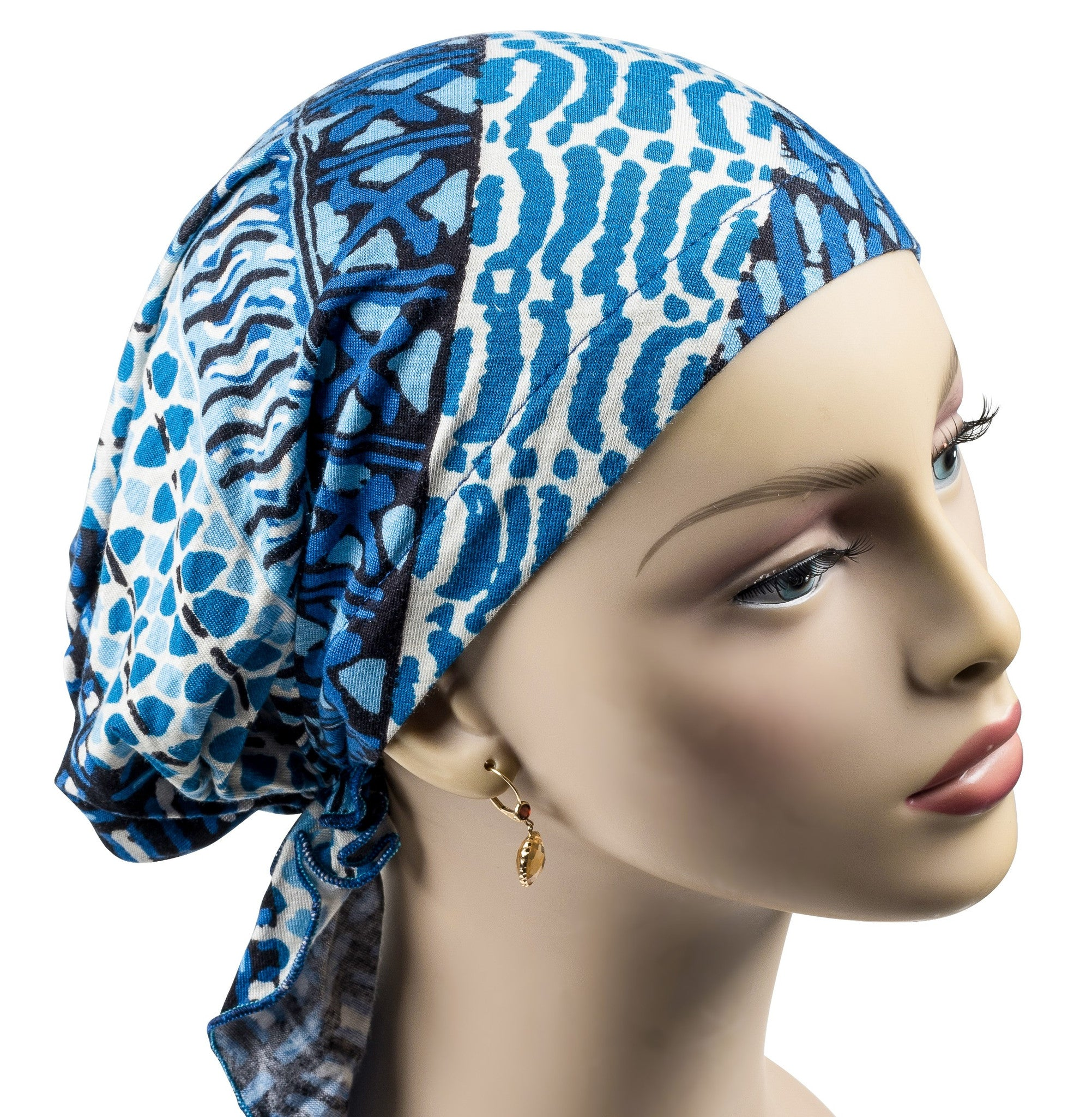 f3c24499e3a Easy Pre-Tied Short Scarf - Blue Streams