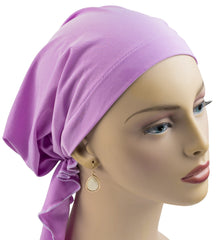 Summer Breeze Pre-Tied Short Scarf - Lavender
