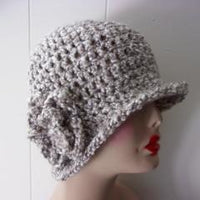 Designer Crochet Cloche - Light Gray Variegated Handmade