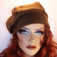 Fleece Beret - Cocoa Brown