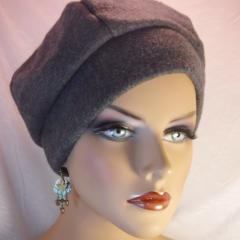 Fleece Beret - Charcoal Gray