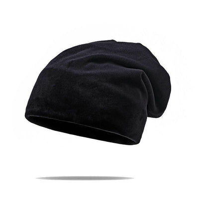 Velvet Super Soft Slouchy Beanie in Black