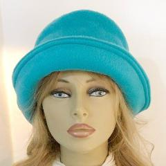 Fleece Cloche Super Soft Hat - Turquoise Teal - SO CUTE!