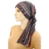 Pre-Tied Longer Scarf - Gray Missoni
