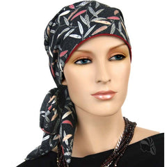 Easy Tie Collection - 24 inch ties -Black, Gray, Pink- BESTSELLER - Hello Courage | Chemo Hats - Cancer Caps - Cancer Scarves - Headcovers - Cancer Beanies - Headwear for Hair Loss - Gifts for  Cancer Patients with Hair Loss - Alopecia