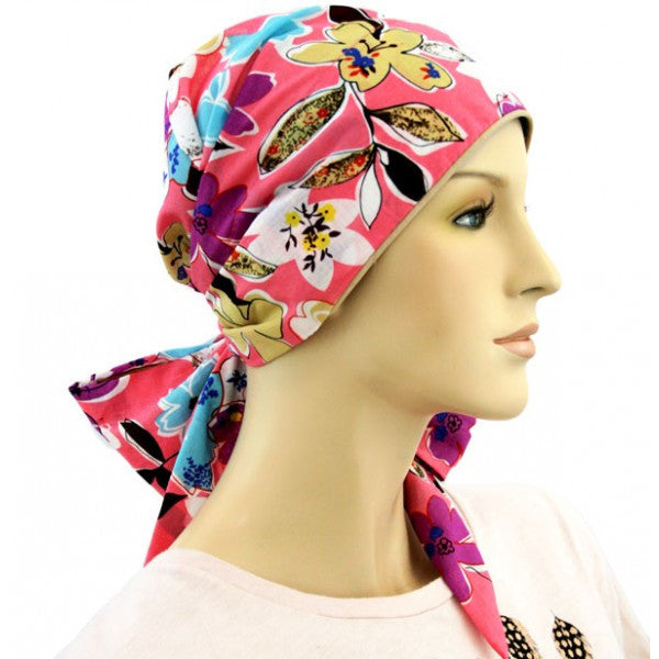 Easy Tie Collection - 24 inch ties - Summer Garden COOL - Hello Courage | Chemo Hats - Cancer Caps - Cancer Scarves - Headcovers - Cancer Beanies - Headwear for Hair Loss - Gifts for  Cancer Patients with Hair Loss - Alopecia