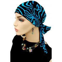Easy Tie Collection - 24 inch ties - Black & Teal - Hello Courage | Chemo Hats - Cancer Caps - Cancer Scarves - Headcovers - Cancer Beanies - Headwear for Hair Loss - Gifts for  Cancer Patients with Hair Loss - Alopecia