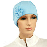 1920s Collection - Light Blue - BESTSELLER - Hello Courage | Chemo Hats - Cancer Caps - Cancer Scarves - Headcovers - Cancer Beanies - Headwear for Hair Loss - Gifts for  Cancer Patients with Hair Loss - Alopecia